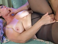 Meggy and Nicholas mature pantyhose video