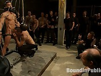 BONUS UPDATE FROM BOUND IN PUBLIC Adam Knox gets caught in a cum fest