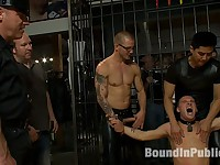 Young stud is bound for the first time at Mr. S Leather