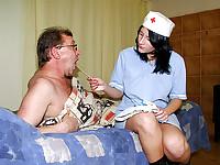 A horny nurse