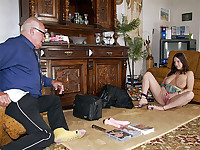 During an interview Mireck admits that he has never used any sex toys. In fact, he hasn't seen them being used either. So a sales girl with the biggest tits he has ever seen pays him a visit at home for an extensive demonstration!