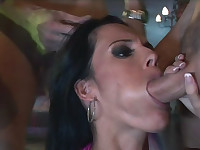 Nasty Slut Enjoys Sucking 3 Cocks & Getting Nasty Facials
