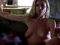 Julianne White MILFy celeb topless on the couch