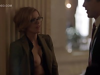 Kathleen Robertson Teases A Guy With Her Tits