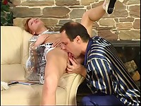 Emilia in the living room needs a dick in her nasty young cunt and she invites Hubert to be her lusty man lover and he's ready to team up.  When she moved in on him he popped a boner and the hardcore licking and dicking start up.  Her steamy hot pussy has never been fucked so hard and he pounds that nasty young cunt and plays with her big juicy tits fully enjoying his young sex adventure.  Soon the guy is busting a wad into her gripping young vagina.