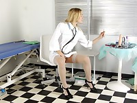 Malika is cute and insatiable nurse in the local hospital. She is on her break and she's feeling horny. To remedy that unnerving condition she starts stripping, rubbing her perky little tits and showing her hairy pits in the process.