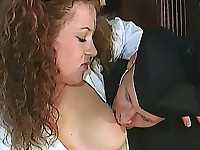 Hairy pussy gets fingered