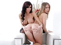 Two horny lesbo pornstars